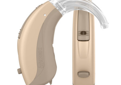 Widex-EVOKE-FM-Double-Tan-silk-Autumn-beige-With-hook-Hearing-aid-With-shadow